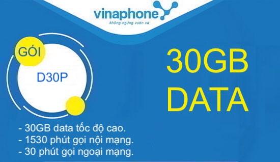 Hướng dẫn đăng ký gói cước D30P Vinaphone.