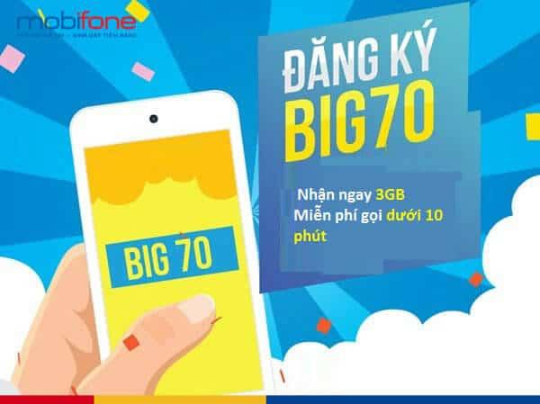 Hướng dẫn đăng ký gói cước BIG70 Vinaphone.
