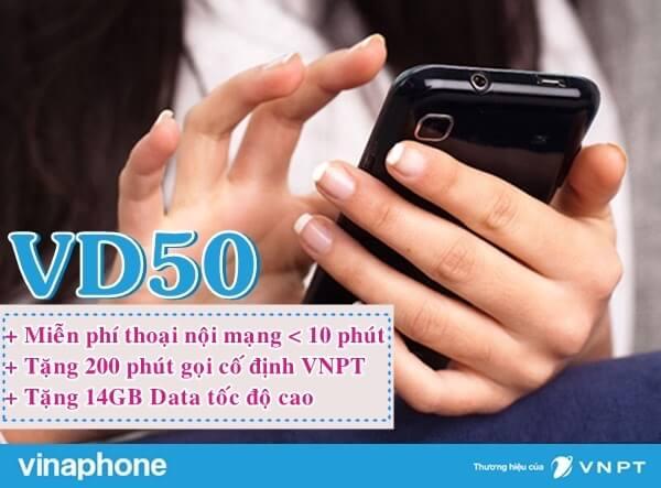 Hướng dẫn đăng ký gói cước VD50 Vinaphone.