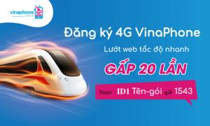 Đăng ký 4G VinaPhone từ 70.000VNĐ một tháng